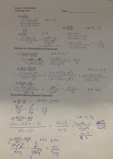 Multiplication And Division Of Rational Expressions Worksheets ...